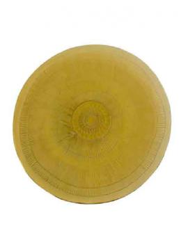 Plato Zenda 32cm amarillo