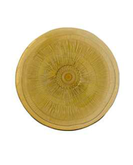 Plato Zenda 28cm amarillo