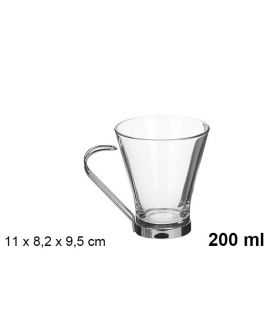 Taza Cafe c/ leche metal 20cl