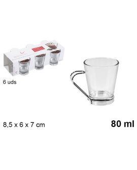Cup Cafe handle metal 8cl
