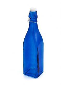 Botella 1L azul C/T Hermético
