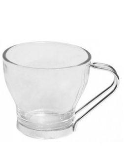 Taza cristal pack 6 cafe asa metal 100 ml