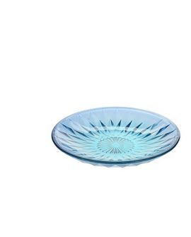 Plato Diamante 15cm Azul Turquesa