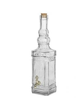Botella Cristal Cuadrada con Grifo 800ml …