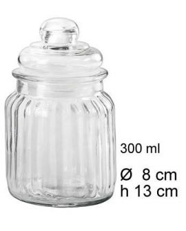 Airtight jar 300ml Stripes