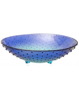 Cuenco Puntos 30 cm Bicolor Azul