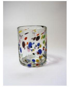 Vaso de vidrio Puntos Mediano