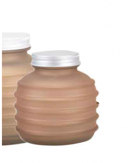 Jar Calypso 0.33 L brown matte